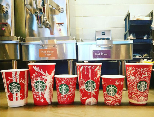starbucks red cups 2016
