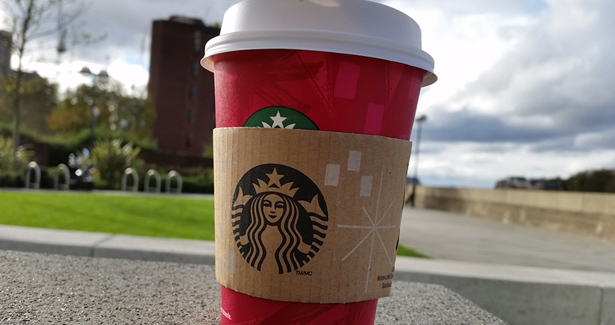 Orange Mocha in a Red Cup