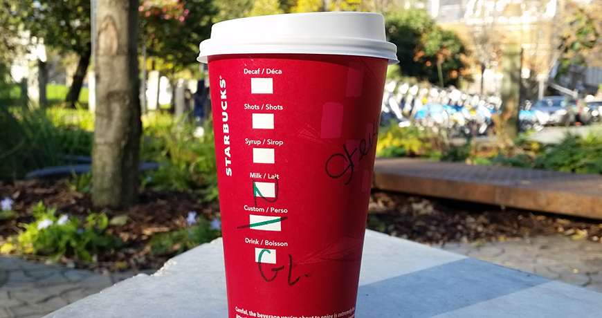 Dark Cherry Mocha in a Red Cup