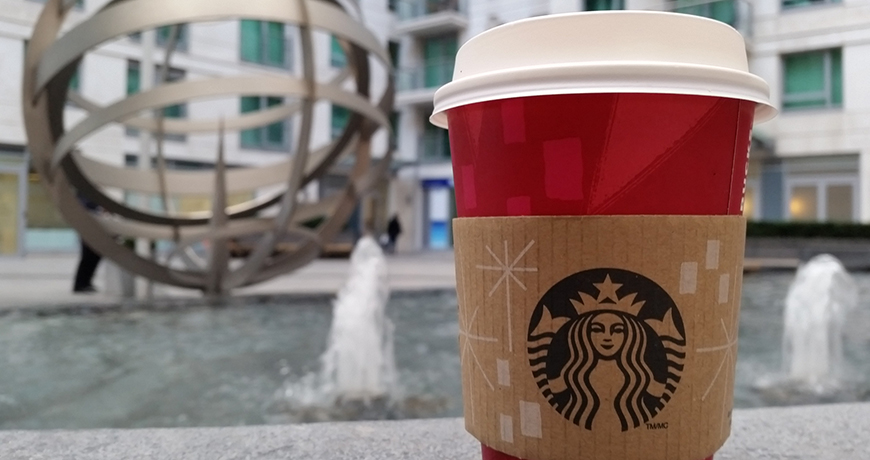 Toffee Nut Latte in a Red Cup